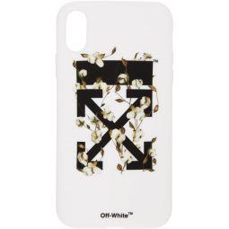 White Cotton Arrows iPhone XR Case
