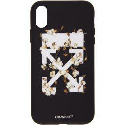Black Cotton Arrows iPhone XR Case