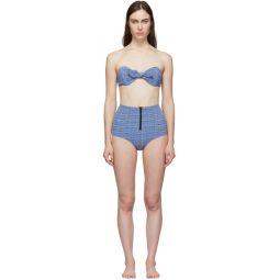 Blue Poppy High-Waist Bikini