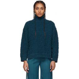 Blue Forever Fendi Embossed Sweater