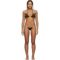 Black & Brown Forever Fendi String Bikini