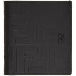Black Forever Fendi Embossed Wallet
