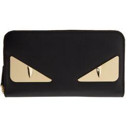 Black & Gold Bag Bugs Continental Wallet
