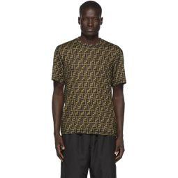Black & Brown Forever Fendi All-Over T-Shirt