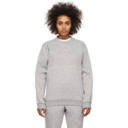 Grey Outline Crewneck Sweatshirt