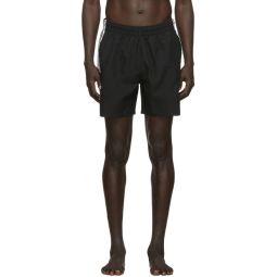 Black 3-Stripes Swim Shorts