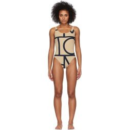 Beige Positano One-Piece Swimsuit