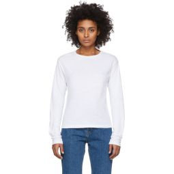 White Heritage Long Sleeve T-Shirt