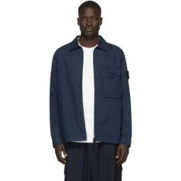 Blue Chest Pocket Overshirt