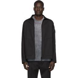 Black Zip-Up Overshirt Jacket