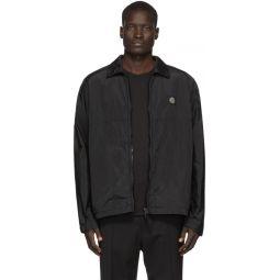 Black Nylon Metal Watro Ripstop Jacket