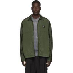 Khaki Nylon Metal Watro Ripstop Jacket
