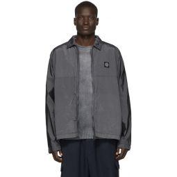 Grey Nylon Metal Watro Ripstop Jacket