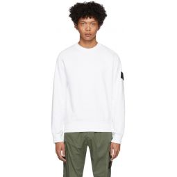 White Garment-Dyed Sweater