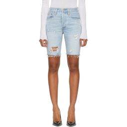 Blue 501 Slouch Shorts