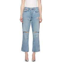 Blue Originals Low Slung Crop Jeans