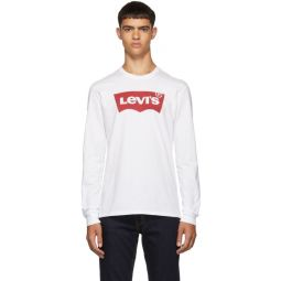 White Logo Long Sleeve T-Shirt