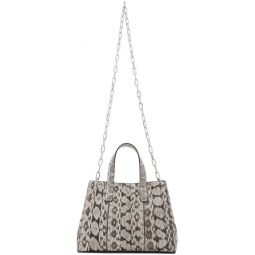 Black & White Snake Le Client Enfant Chain Bag