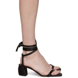 Black Satin Shyah Sandals