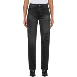 Black High-Rise Loose Jeans