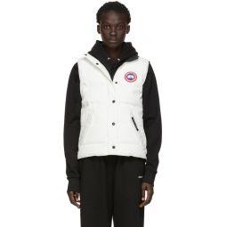 White Down Freestyle Vest