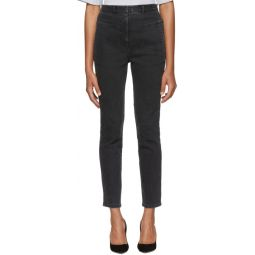 Black Jamie Flat Front Jeans