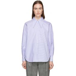 Blue Striped Oxford Oversized Shirt