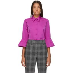 Pink Ruffle Sleeve Shirt