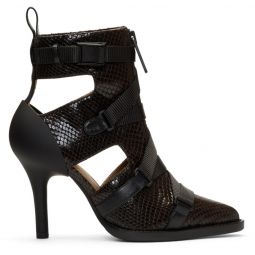 Burgundy Tracy Croc Strap Heels