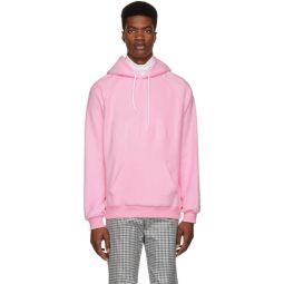 Pink Logo Backward Hoodie