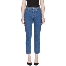 Blue Originals Double Needle Crop Jeans