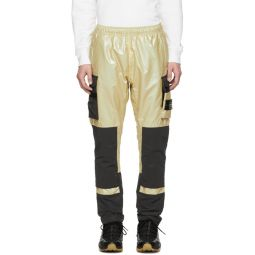 Gold Iridescent Cargo Pants