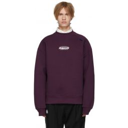 SSENSE Exclusive Purple ASCC Unbalanced Yoke Sweatshirt