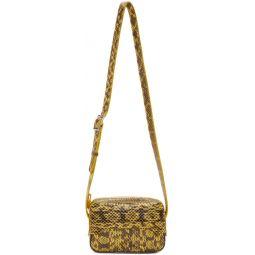 Yellow Snakeskin Bebe Bag