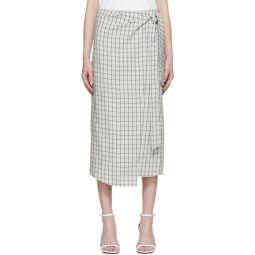Green Elliot Check Wrap Skirt