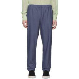 SSENSE Exclusive Blue Linen Viscose Trousers