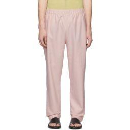 SSENSE Exclusive Pink Linen Viscose Trousers