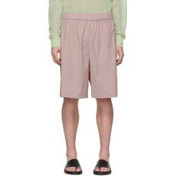SSENSE Exclusive Pink Wool Shorts