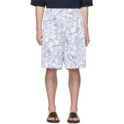 SSENSE Exclusive White & Blue Isa Shorts