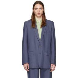 SSENSE Exclusive Blue Long Blazer