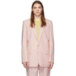 SSENSE Exclusive Pink Long Blazer