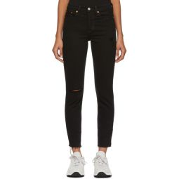 Black Wedgie Fit Icon Jeans