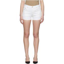 White 501 High-Rise Shorts