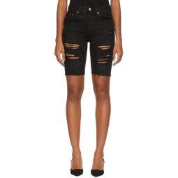 Black Denim 501 Slouchy Shorts