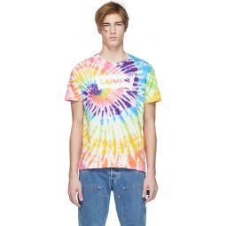 Multicolor Tie-Dye Housemark T-Shirt