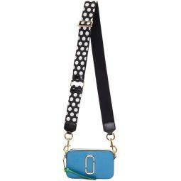 SSENSE Exclusive Blue & White Small Snapshot Bag