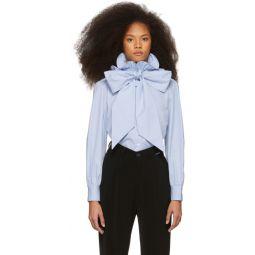 Blue High Collar Shirt