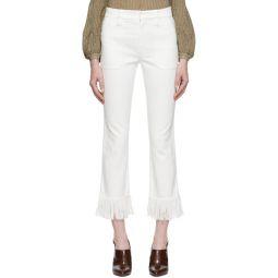 White Fringed Jeans