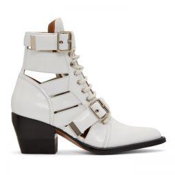 White Rylee Medium Boots