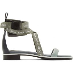 Grey & Green Veronica Sandals